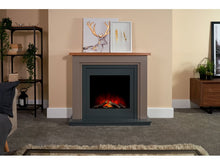 Load image into Gallery viewer, Adam Neston Electric Fireplace Suite in Charcoal Grey, 44 Inch