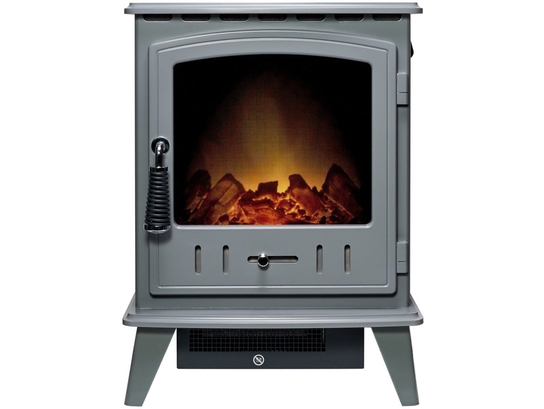 Adam Aviemore Electric Stove in Grey Enamel