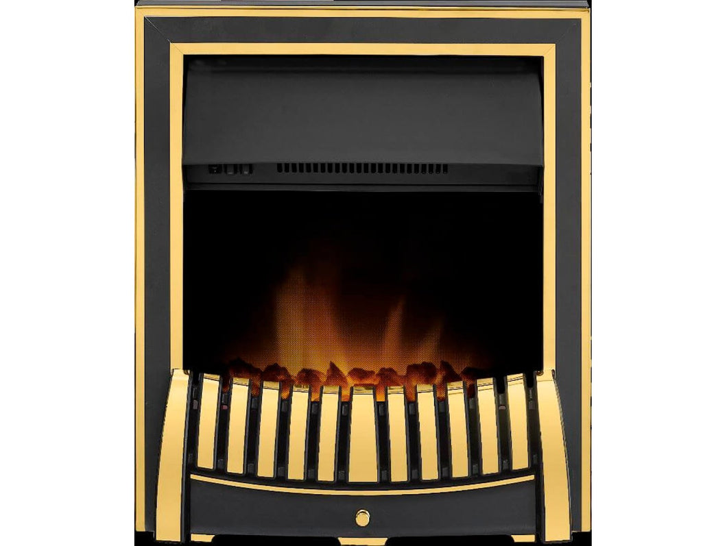 Adam Elan Electric Fire in Brass