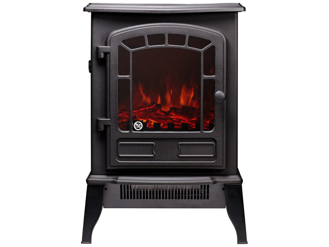 The Ripon Electric Stove in Black
