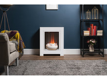 Load image into Gallery viewer, Adam Monet Fireplace Suite Pure White + Electric Fire, 23""