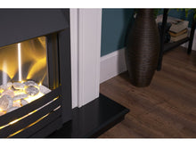 Load image into Gallery viewer, Adam Georgian Fireplace Suite Pure White + Helios Electric Fire Black, 39""