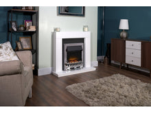 Load image into Gallery viewer, Adam Malmo Pure White & Black/Pure White + Blenheim Electric Fire Chrome, 39""
