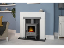 Load image into Gallery viewer, Adam Salzburg Pure White & Grey + Aviemore Electric Stove Grey Enamel, 39""