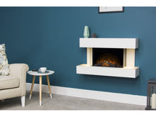 Load image into Gallery viewer, Adam Altair Wall Mounted Electric Fire Suite + Downlights & Remote Control Pure White