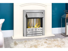 Load image into Gallery viewer, Adam Venice/Devon  Fireplace Suite Cream + Helios Electric Fire Brushed Steel, 39""