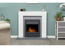 Load image into Gallery viewer, Adam Dakota Fireplace Pure White & Grey + Colorado Electric Fire Black, 39""