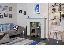 Load image into Gallery viewer, Adam Aviemore Electric Stove Grey Enamel