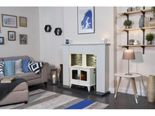 Load image into Gallery viewer, Adam Woodhouse Electric Stove Pure White + Straight Stove Pipe Pure White