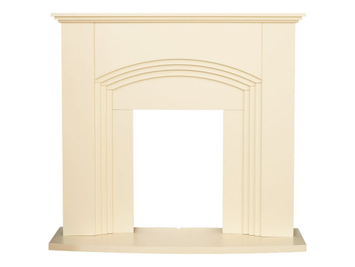 Adam Kirkdale Fireplace in Cream, 45 Inch