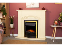 Load image into Gallery viewer, Adam Kirkdale Fireplace Cream + Cambridge 6-in-1 Electric Fire Black, 45""
