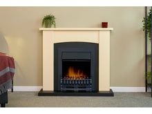 Load image into Gallery viewer, Adam Holden Fireplace Cream & Black + Blenheim Electric Fire Black, 39""