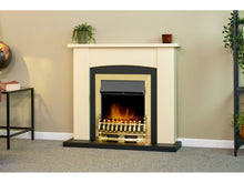 Load image into Gallery viewer, Adam Holden Fireplace Cream & Black + Blenheim Electric Fire Brass, 39""