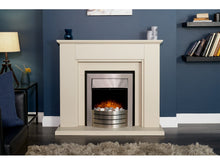 Load image into Gallery viewer, Adam Greenwich Fireplace Stone Effect + Comet Electric Fire Brushed Steel, 45""