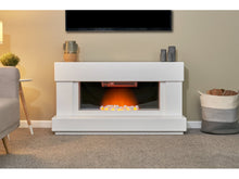 Load image into Gallery viewer, Adam Verona Fireplace Suite Pure White, 48""