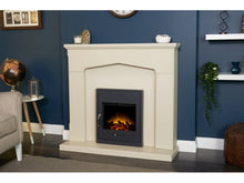 Load image into Gallery viewer, Adam Cotswold Fireplace Stone Effect + Oslo Electric Inset Stove Black, 48""