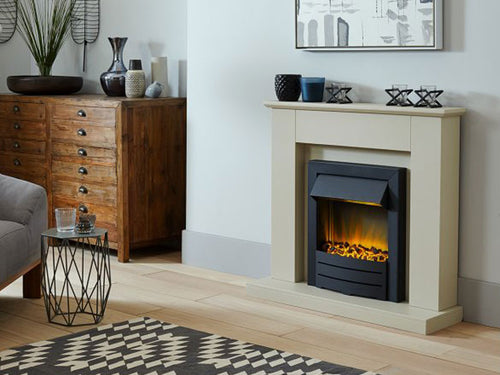 inset fire with surround and led lights