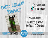 Camo Tumbler Template 30oz Tall and Skinny LittleLee and Rose