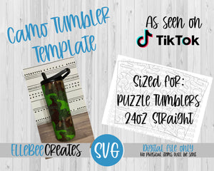 Camo Tumbler Template 24oz Straight Puzzle Tumblers