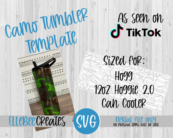 Camo Tumbler Template 12oz Hoggie 2.0 Can Cooler