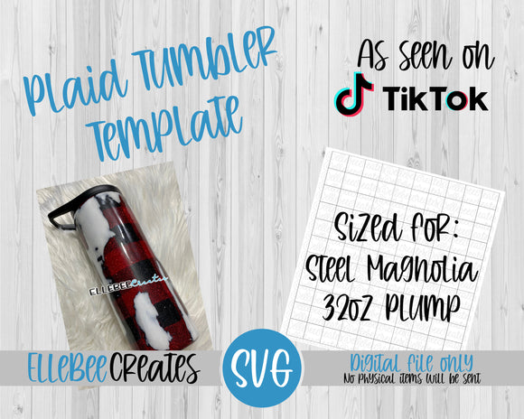 Plaid Tumbler Template 32oz Plump/Hydrofit Steel Magnolia