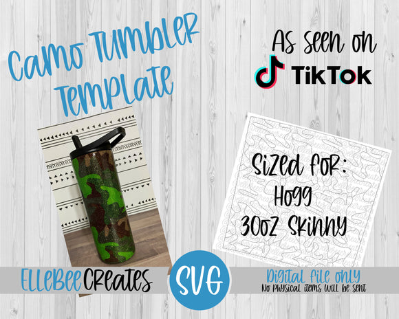 Camo Tumbler Template 30oz Skinny Tapered Hogg