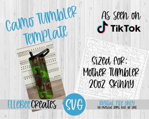 Camo Tumbler Template 20oz Skinny Mother Tumbler