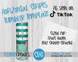 Horizontal Stripes Tumbler Template 30oz Skinny Straight Craft Haven