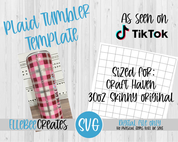 Plaid Tumbler Template 30oz Skinny Original Craft Haven