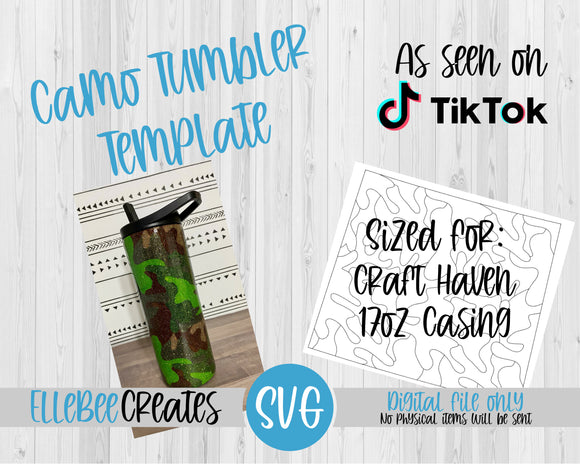 Camo Tumbler Template 17oz Casing Craft Haven