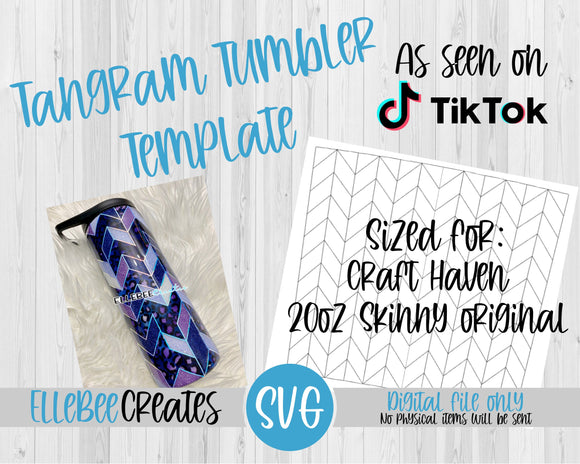 Tangram Tumbler Template 20oz Skinny Original Craft Haven