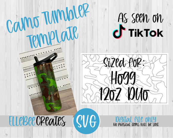 Camo Tumbler Template 12oz Duo Hogg
