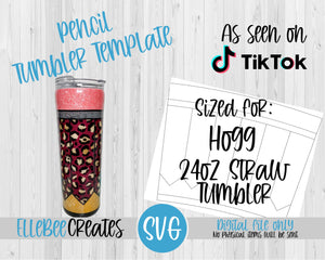 Pencil Tumbler Template 24oz Straw Hogg