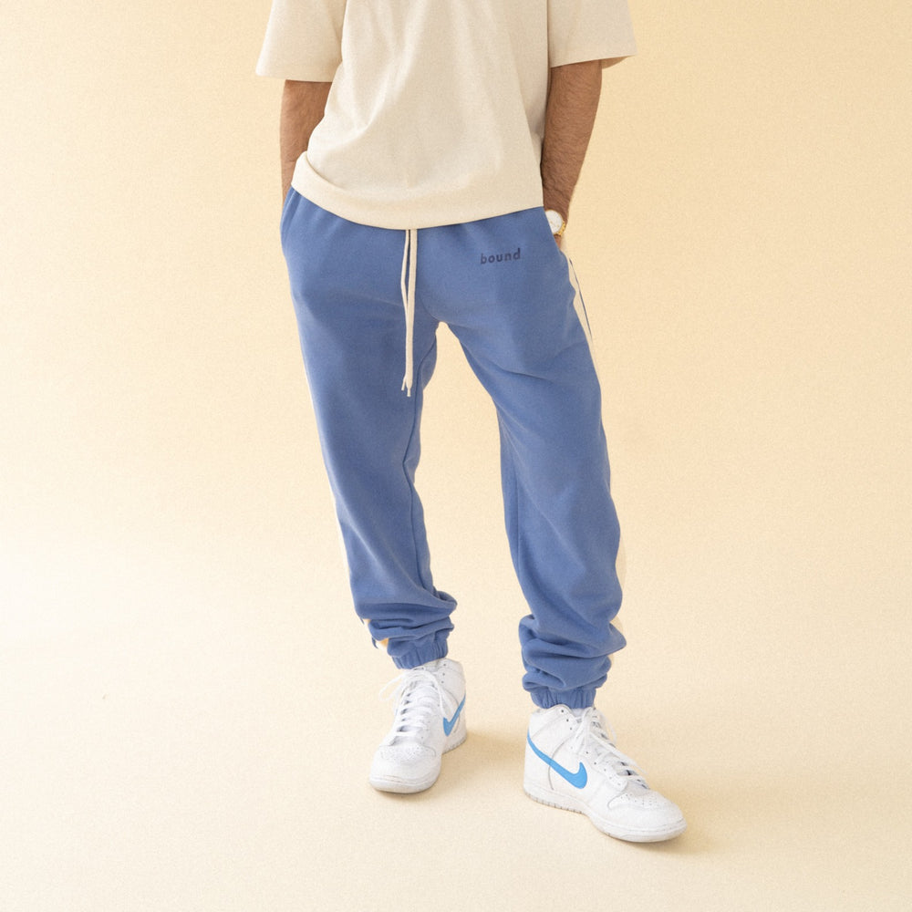 bound 'Carolina Blue' Stripe Joggers