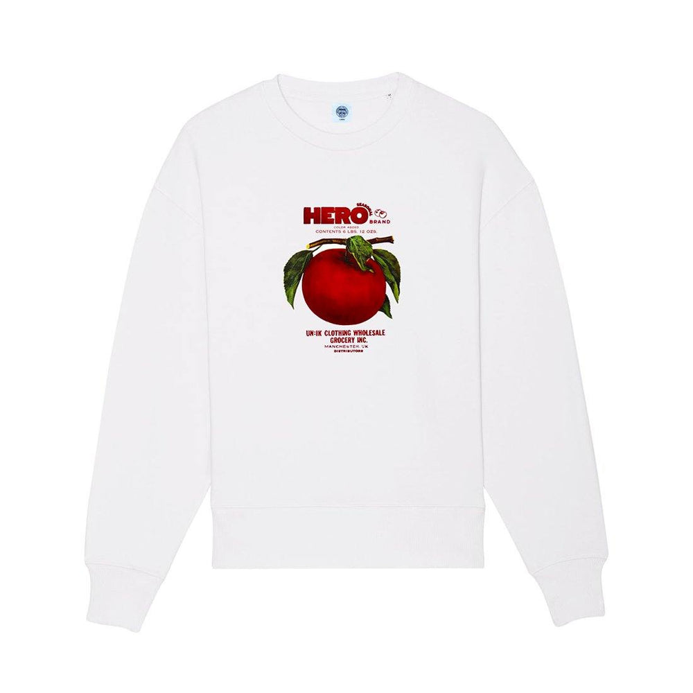 Seasonal Hero 'Apple Branch' Oversized Sweater - Organic White - UN:IK Clothing