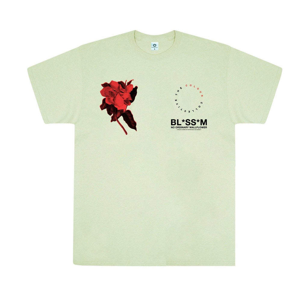 Colour Collective 'Blossom Wallflower' Tee - Pistachio - UN:IK Clothing