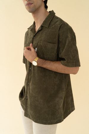 Load image into Gallery viewer, bound 'Khaki Cord Towel' SS Shirt