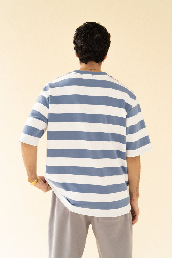 Load image into Gallery viewer, bound 'Arctic' Stripe Tee