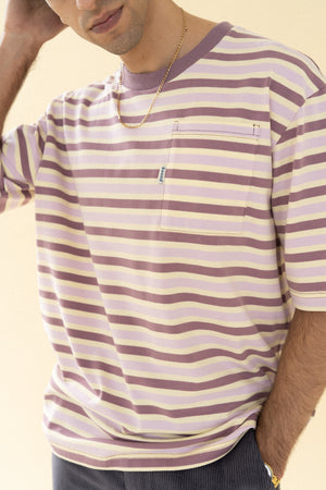Load image into Gallery viewer, bound 'Neopolitan Stripe Pocket' Tee