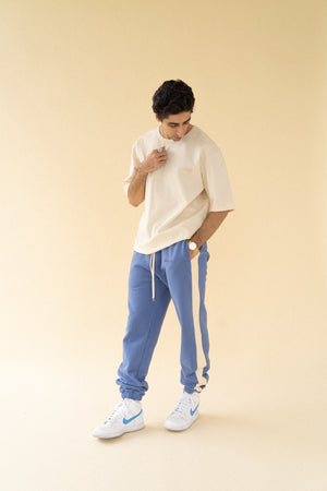 Load image into Gallery viewer, bound 'Carolina Blue' Stripe Joggers