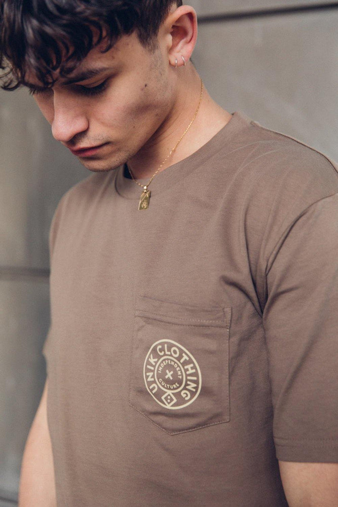 Load image into Gallery viewer, Essentials Premium Pocket Tee - Coffee - UN:IK Clothing