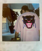 Melé x Club Bad 'Party Panther' Tee - Light Pink - UN:IK Clothing