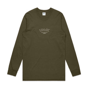 Essentials Premium Longsleeve - Army - UN:IK Clothing
