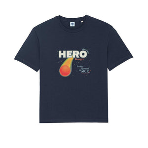 Load image into Gallery viewer, Seasonal Hero 'Freshly Squeezed' Tee - Navy Organic Cotton - UN:IK Clothing