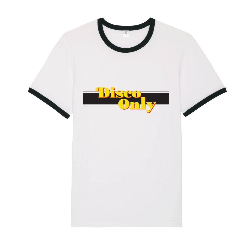 DISCO ONLY '70s' Ringer Tee - UN:IK Clothing