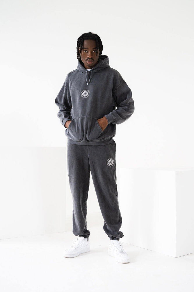 Seasonal Hero 'Aspire' Vintage Washed Joggers - Charcoal - UN:IK Clothing