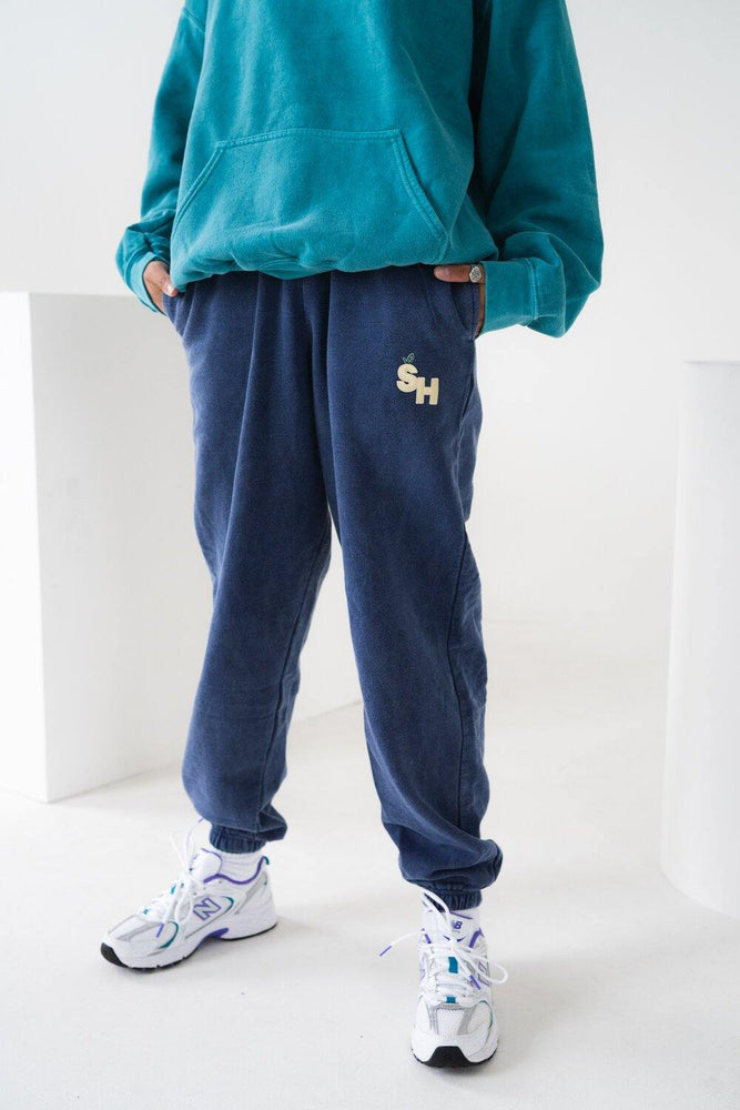 Seasonal Hero 'Fruit' Vintage Washed Joggers - Navy - UN:IK Clothing