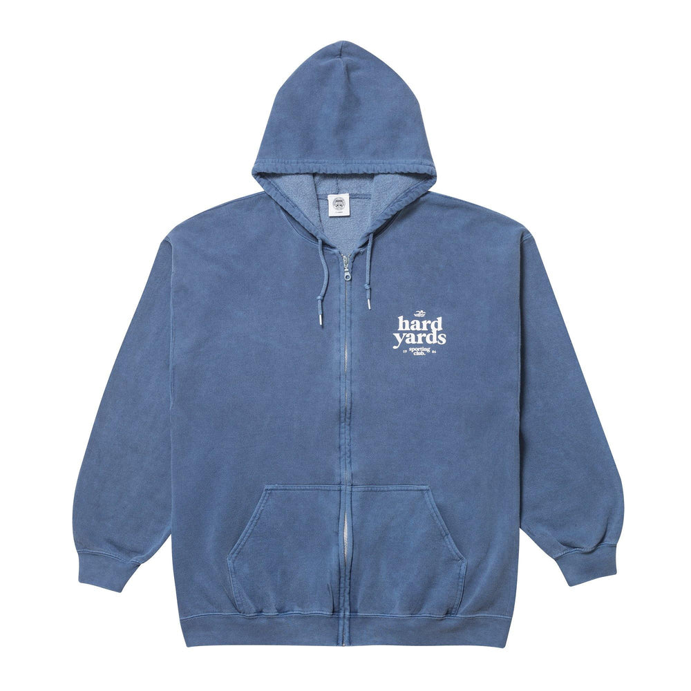 Vice 84 'Hard Yards' Zip Up Hoodie - Washed Navy - UN:IK Clothing