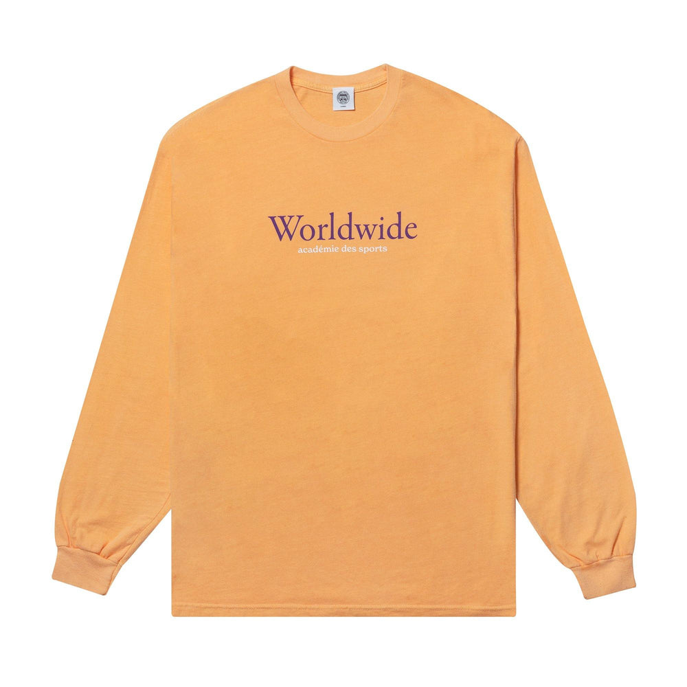 Vice 84 'Worldwide' Longsleeve Tee - Washed Tangerine - UN:IK Clothing