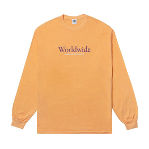 Load image into Gallery viewer, Vice 84 'Worldwide' Longsleeve Tee - Washed Tangerine - UN:IK Clothing